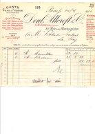 1910 FACTURE DENT, ALLCROFT & Cie GANTS PEAUX ET TISSUS RUE DES BOURDONNAIS à PARIS - France