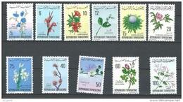 """Tunisie YT 640 à 650 """" Fleurs """" 1968-69 Neuf** - Tunisie (1956-...)"""