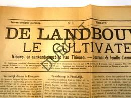 TIENEN Krant De Landbouwer / Le Cultivateur 1920 (n514) - Unclassified