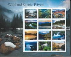 USA. Scott #  MNH Sheet Of 12. Wild And Scenic Rivers.  2019 - Feuilles Complètes