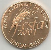 Reggio Emilia 2001, Festa Nazionale De L'Unità, Altiero Spinelli, Ae. FS. Gr. 15, Cm. 3,4. - Italia