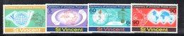 CI1125 - SAINT VINCENT 1974, Serie Yvert N. 357/360   ***  Upu - St.Vincent (1979-...)