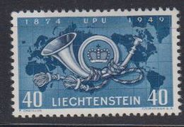 Liechtenstein 1949 UPU 1v * Mh (= Mint, Hinged) Brown Spot On Gum  (42822I) - Liechtenstein