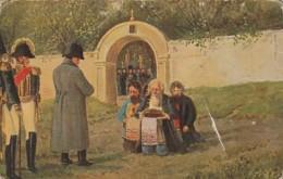 ***  CARTE éd RUSSE  ** Souvenir -  Napoléon En Russie 1812 - Dos Sale Et Pli - History