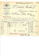 1910 FACTURE P. DUTOIT, MARTIN & Cie MANUFACTURE DE CORSETS à HAUBOURDIN NORD - France
