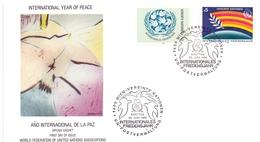 WIEN INTERNATIONAL YEAR PEACE 1986 COVER   (MAGG190002) - Emissioni Congiunte
