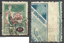 LETTLAND Latvia 1921 Michel 69 O - Lettonie