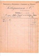 1910 FACTURE SEILIGMANN & Cie LINGERIE DES VOSGES à EPINAL - France