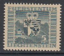 Liechtenstein 1945 Wappen 1v  * Mh (= Mint, Hinged) (42822G) - Liechtenstein