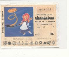 BL 164 / BILLET  LOTERIE NATIONALE   TRANCHE   DE  LA CHANDELEUR       1982 - Billets De Loterie
