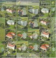 HR 2019-1384-7 CROATIA'S CASTLES, HRVATSKA CROATIA, MS. MNH - Schlösser U. Burgen