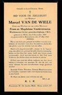 GESNEUVELD KNESSELARE 1940 - MARCEL VAN DE WIELE - WACHTMEESTER GENEESKUNDIG CORPS - MELLE 1909 - Décès