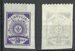 LETTLAND Latvia 1919 Michel 13 C/B (einseitig Gezähnt) MNH - Lettonie