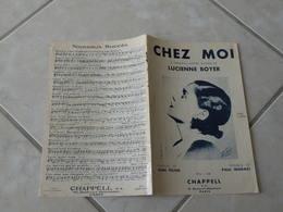 Chez Moi (Lucienne Boyer)-(Paroles Jean Féline)-(Musique Paul Misraki) Partition 1935 - Liederbücher