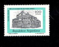 771997466 1981 SCOTT 1168 POSTFRIS  MINT NEVER HINGED EINWANDFREI  (XX) - COLUMBUS THEATER BUENOS AIRES - Neufs