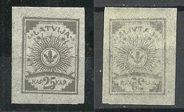 LETTLAND Latvia 1919 Michel 11 C Type X (porous Paper) MNH - Lettonie