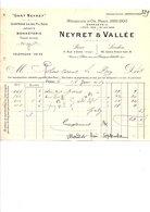 1910 FACTURE NEYRET & VALLEE GANTERIE RUE D'UZES à PARIS - France