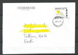 Estland Estonia 2019 O MUSTIKA Domestic Letter Osmussaare Light House Leuchtturm As Single - Estonia