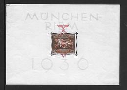"""Deutsches Reich  Block 10  1937 Galopprennen """"Das Braune Band Von Deutschland""""   Ungebraucht Mit Falzrest, Marken ** - Deutschland"""