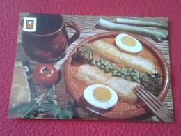 SPAIN ESPAGNE POSTAL POST CARD BACALAO A LA CATALANA COCINA COOK CUISINE COOKING COCINAR COD CODFISH CABILLAUD VER FOTO - Recetas De Cocina