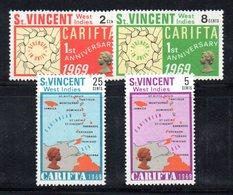 CI1046 - SAINT VINCENT 1969, Serie Yvert N. 254/257   ***  Carifta - St.Vincent (1979-...)