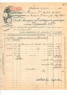 1910 FACTURE Sté Anon.DES TRICOTAGES A LA MECANIQUE à MONTBELIARD DOUBS - France