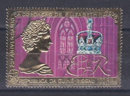 GUINEE BISSAU   :  PA 41   Elisabeth II Multicolore  Et Or   (o) - Guinea-Bissau