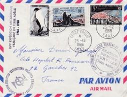"""Cachet """" Expéditions Polaires Françaises Missions Paul-Emile-Victor Station Dumont D'Urville Terre Adélie """" De 1966 - Terres Australes Et Antarctiques Françaises (TAAF)"""