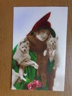 Hond, Chien, Dog / Dame Met Twee Hondjes -> Beschreven - Chiens