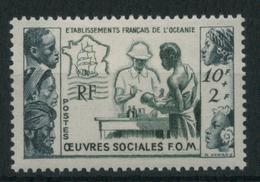 1955 Oceania, Oeuvres Sociales, Serie Completa Nuova (*) Linguellata - Nuovi