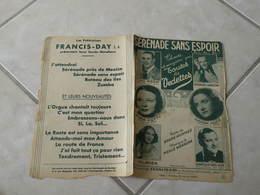Sérénade Sans Espoir -(Paroles André Hornez)-(Musique Melle Weersma) Partition 1933 - Liederbücher
