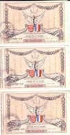 Colonie Française De MONACO - 3 Billets De La Loterie Nationale. Grande Fête De Charité. 30 Avril 1937. Bon état. - Billets De Loterie