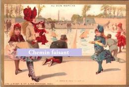 Chromo AU BON MARCHE - BASSIN Des TUILERIES.... - Scans Recto-verso - Au Bon Marché
