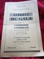 WW2-10 MAI 1944-LE BARBIER DE SÉVILLE-OPÉRA COMIQUE LYON-HARMONIE LYONNAISE-SPECTACLE PENDANT LA GUERRE-PUBLICITÉ - Programmes