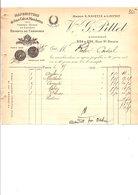 1910 FACTURE Vve G. PITTET COLS ET MANCHETTES RUE SAINT DENIS à PARIS - France