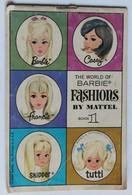 1966 Ancien Catalogue Barbie The World Of Barbie Fashions By Mattel Book 1 Poupée Et Accessoires Skipper Tutti - Barbie