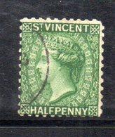 CI824 - SAINT VINCENT ,  1/2 P. Verde  Usato. Dentellato 12 (2380a) - St.Vincent (1979-...)