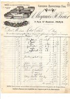 1911 FACTURE A. MEYRUEIS & H. LIVIER GANTERIE RUE SAINT MARTIN à PARIS - France