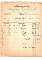 1910 FACTURE L. GREY & Fils MANUFACTURE DE BONNETERIE à DIJON - France
