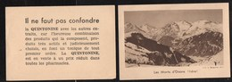 Chromos & Images > Non Classés Les Monts D Oisans Faut Pas Confondre La Quintonine - Vieux Papiers
