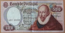 PORTUGAL - NOTA / BANKNOTE 500$00 (quinhentos Escudos) Ch. 11 - 4 De Outubro De 1979 - Série AHC - BEM CONSERVADA / GOOD - Portugal