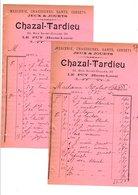 1910 FACTURES CHAZAL-TARDIEU MERCERIE à LE PUY EN VELAY HAUTE LOIRE - France
