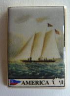 FEVE PUBLICITAIRE Perso - LENÔTRE -  AMERICA CUP LOUIS VUITTON 1995 - Anciennes