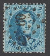 COB 15 - Dent. 12 ½ X 13 ½ - Obl. Pts. N°60 (BRUXELLES) - 1863-1864 Medaillen (13/16)