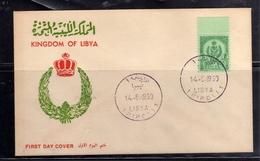 LIBYA LIBIA UNITED KINGDOM REGNO UNITO 1960 STEMMA COAT OF ARMS 5m FDC - Libië