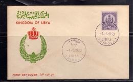 LIBYA LIBIA UNITED KINGDOM REGNO UNITO 1960 STEMMA COAT OF ARMS 10m FDC - Libië