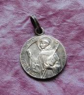 Médaille Saint Gilles, P. P. N., Signée Penin, Métal Argenté, Recto-verso, Médaille Religieuse - Godsdienst & Esoterisme