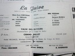 1947/48-LA JUIVE-VALSE DES BUVEURS-PROGRAMME OPÉRA De LYON-SPECTACLE-PHOTOS ARTISTES COMÉDIENS -ACTEURS-DANSE-PUBLICITÉ - Programmes