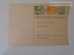 D163884  Switzerland  Uprated Stamped Stationery -Ganzsache Entier Postal 1956  Thierachern Bei Thun - Entiers Postaux
