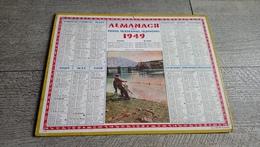 Calendrier 1941 Seine Et Oise Almanach Des Postes Pêche Sur La Bidassoa Pays Basque - Calendriers